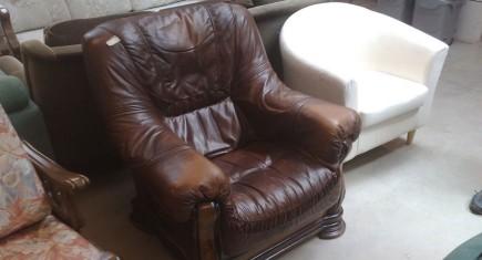 Кресло единично Мида с ест.кожа