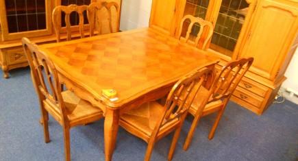 """Трапезна маса + 6 стола """"Луи XV"""""""