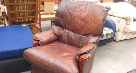 Кресло с естествена кожа