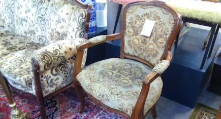"""Кресло  с дамаска """"Луи XV"""""""