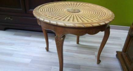 """Холна маса кръгла """"Луи XV"""" с ратан"""