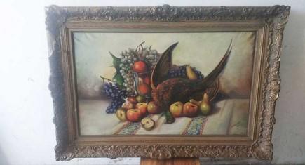 Натюрморт с плодове и фазан