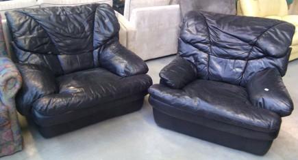 Кресла с черна естествена кожа