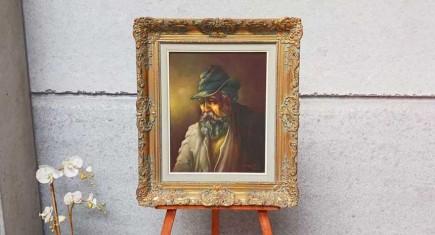 Кресло с гобленова дамаска