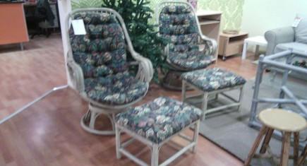 Ратанови кресла+табуретки