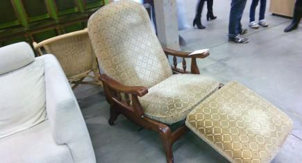 """Релакс кресло """"Луи ХV"""" с дървена конструкция"""