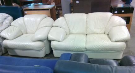 Мека мебел 2+1 ест.кожа