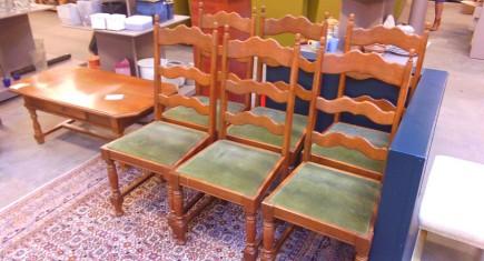 Комплект трапезни столове - 6бр.