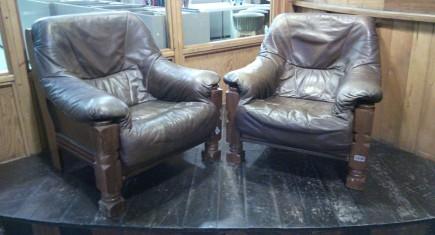 Кресла Мида 2бр. с ест.кожа