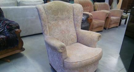 Единично кресло с релефна дамаска