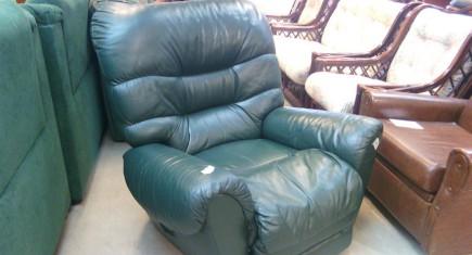 Кресло от зелена ест.кожа