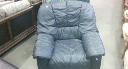 Единично кресло - ест. кожа