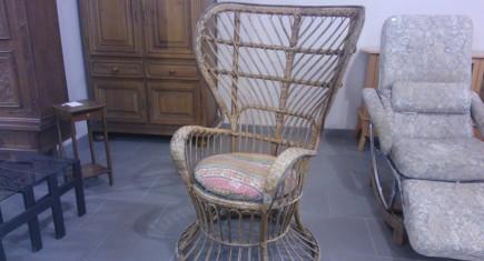 Голямо кресло от ратан